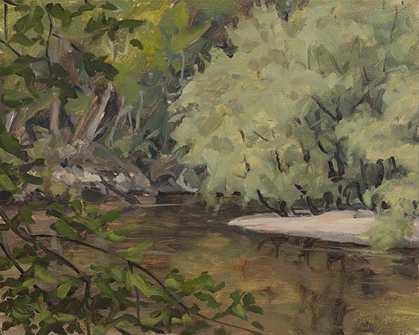 Painting of Scarboro Landing
