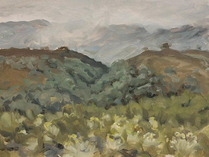 Painting of Below Laguna Chingaza