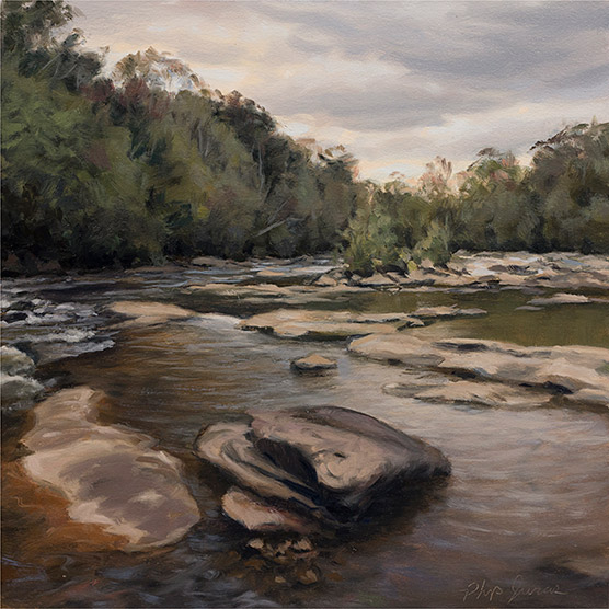 Painting of Tallassee Shoals