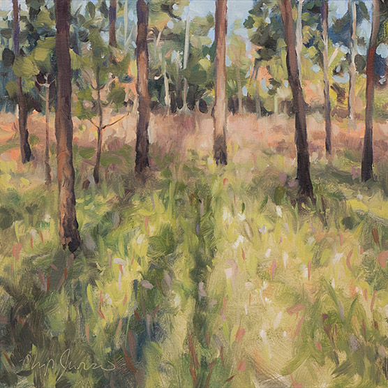 Painting of Late Afternoon, Splinter Hill Bog, Alabama