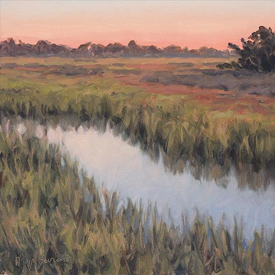 Painting of Dawn, Sapelo Island, Georgia