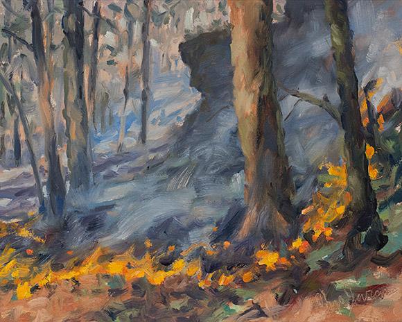 Painting of Burn 6