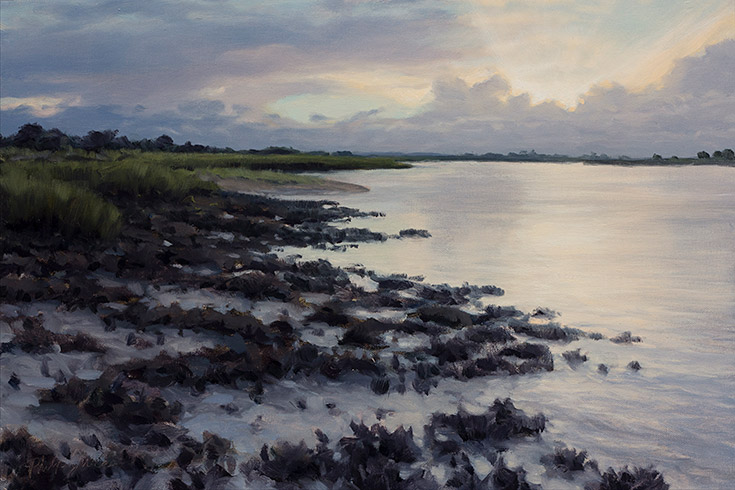 Painting of Altamaha Oyster Beds