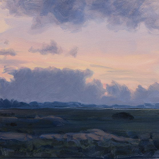 Painting of Last Dune at Dusk