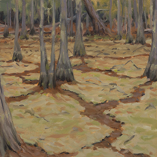 Painting of Dry Cypress Pond