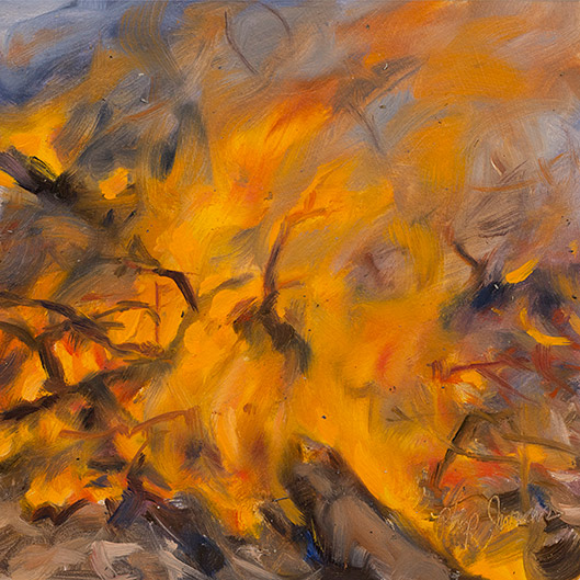 Painting of Leaf Litter and Branches