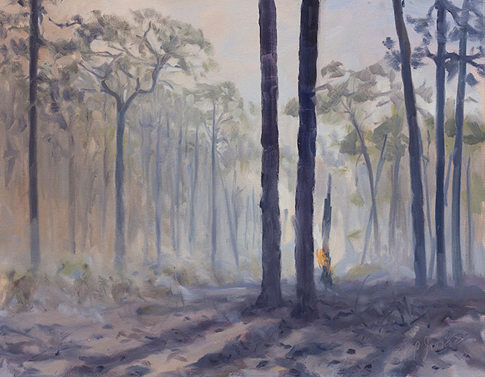 Painting of Smoky Woods