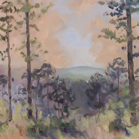 Painting of Smoky View of Weisner Mountain