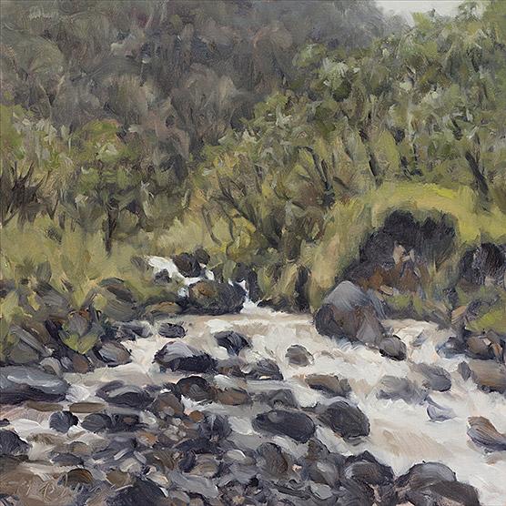 Painting of Stream Study (Quebrada Babilonia)