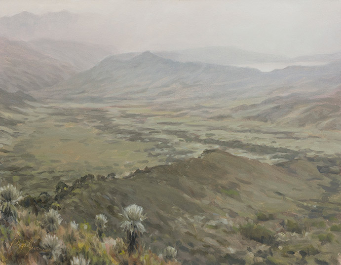 Painting of Frailejon Valley 2