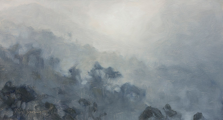 Painting of Mountain Fog Impression