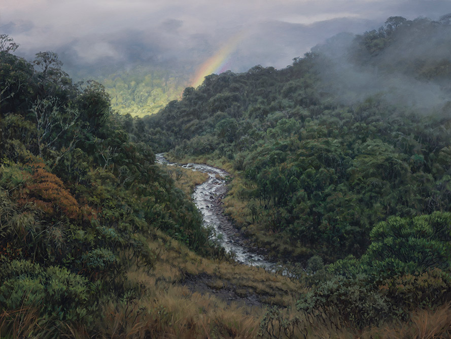 Painting of Quebrada Babilonia