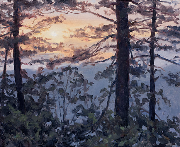 Painting of Sunrise from the Nuthouse