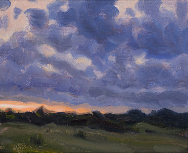 Painting of Evening Clouds