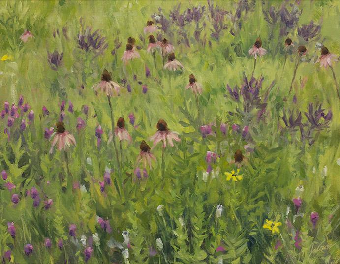 Painting of Grigsby Prairie Flora