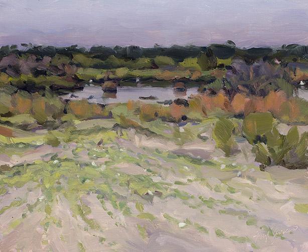 Painting of Main Beach Pond