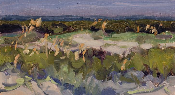 Painting of North Main Beach Dunes