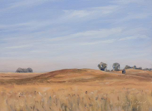 Painting of Grassy Hills