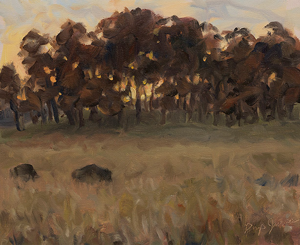 Painting of Bison