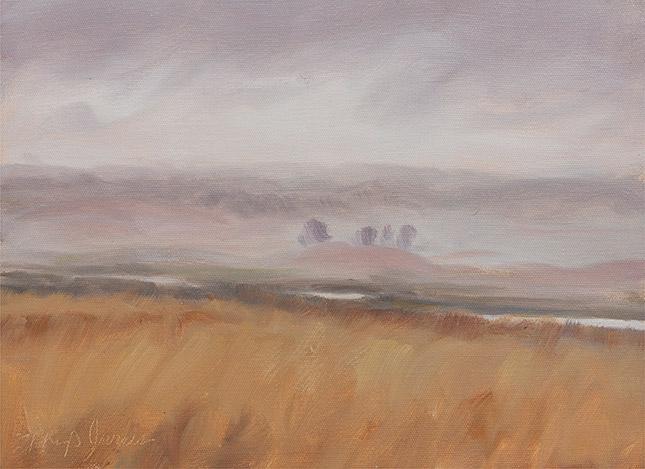 Painting of Raining