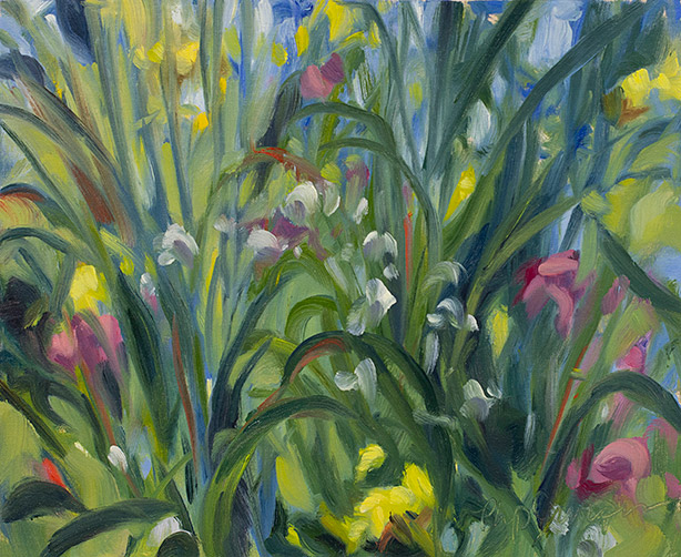 Painting of Garden Veg by Philip Juras