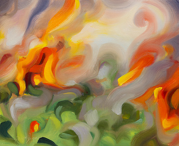 Painting of Flames 1 by Philip Juras.