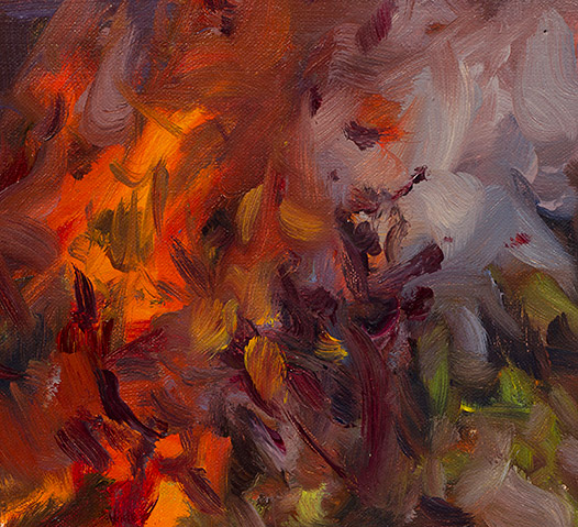 Painting of Flames 2 by Philip Juras
