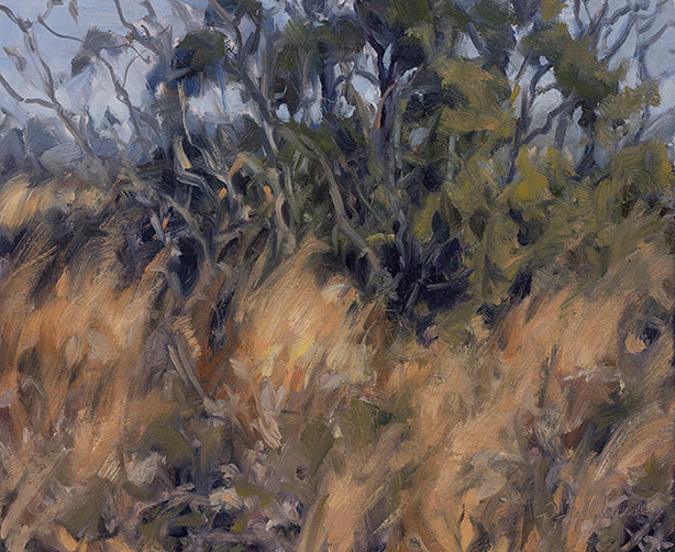 Painting of Broomsedge and Wax Myrtle