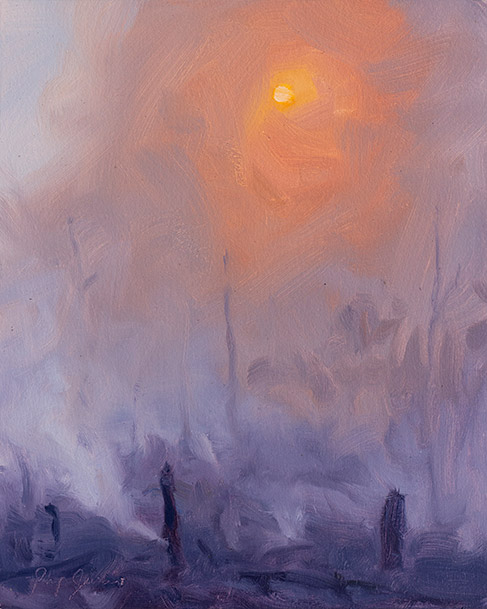 Painting of Sun through Smoke