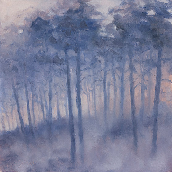 Painting of Smoky Pines