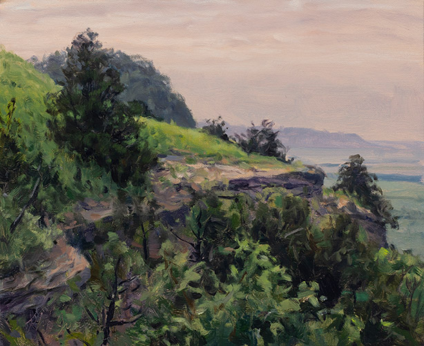 Painting of Limestone Bluffs