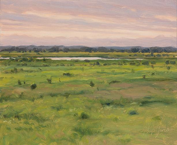 Painting of Wet Prairie