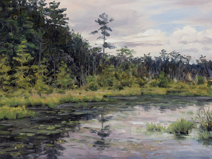 Painting of Hemlock Lake