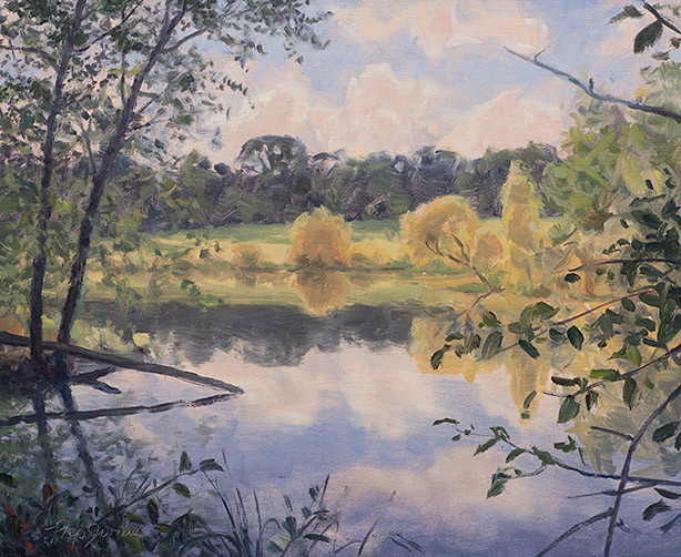 Painting of Lake Katherine