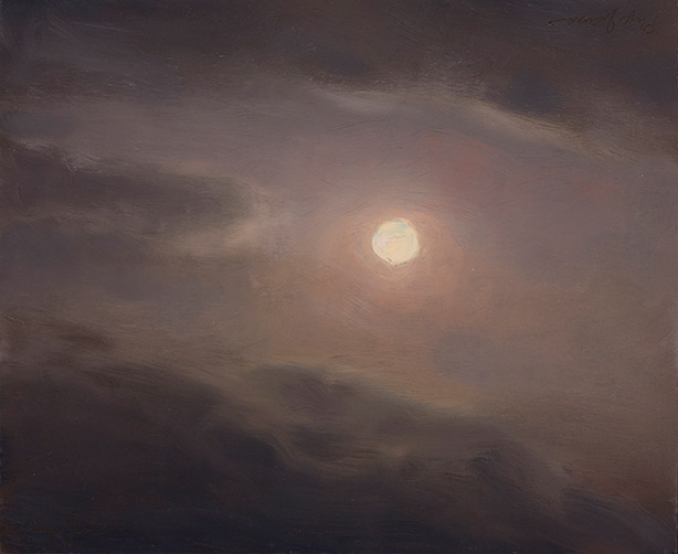 Painting of Full Moon