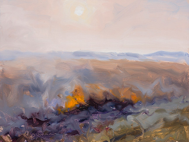Painting of Fall Burn 1
