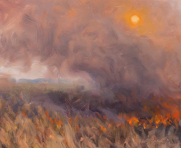 Painting of Fall Burn 2