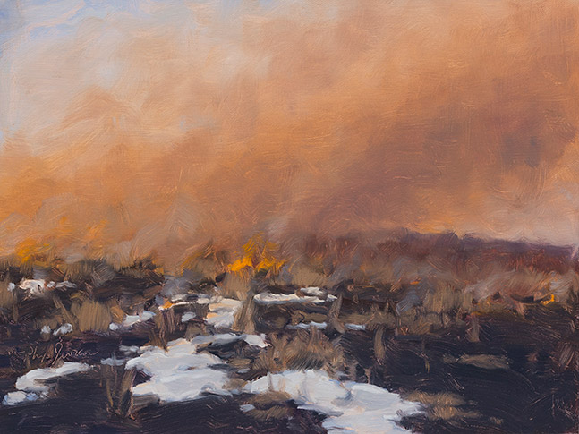 Painting of Winter Burn 2
