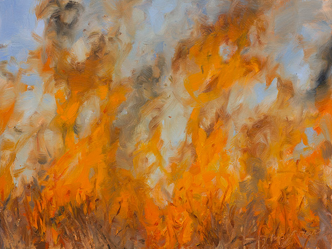 Painting of Combustion