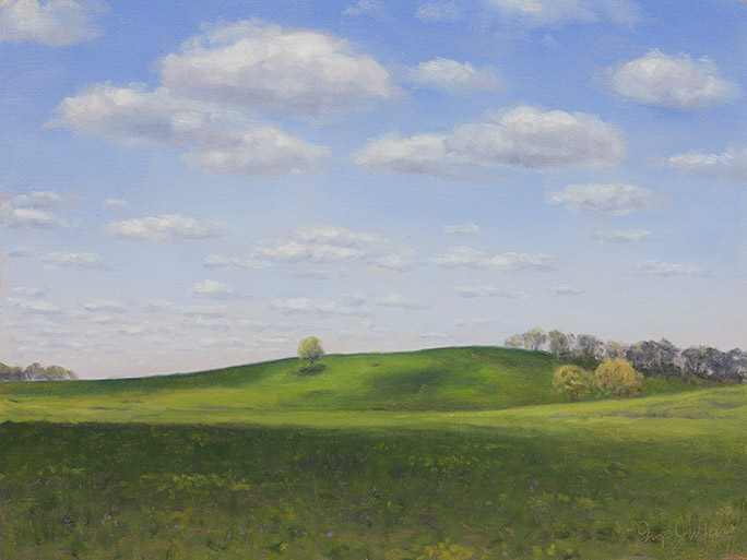 Painting of Poplar Creek Prairie