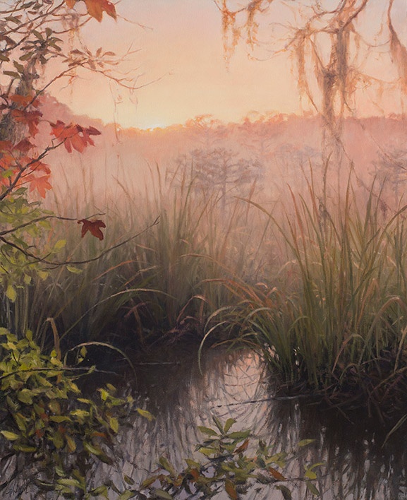 Painting of Morning Ephemera on Cathead Creek