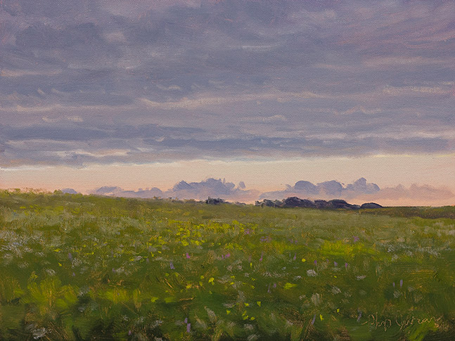 Painting of Loda Cemetery Prairie