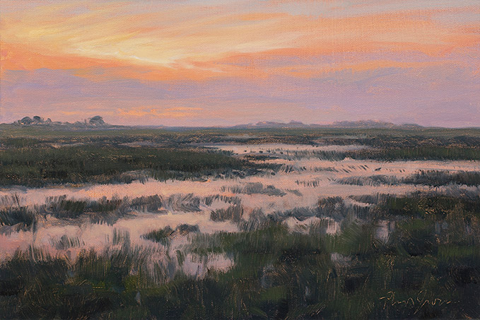 Painting of Presettlement Marsh Study