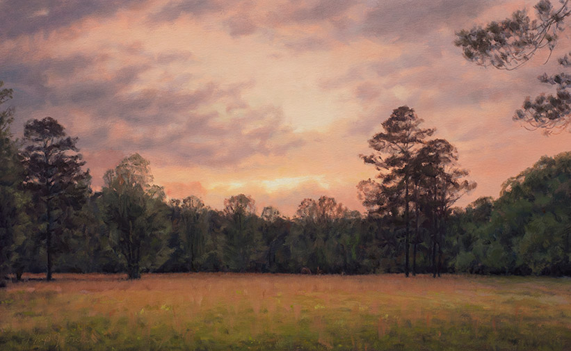 Painting of Evening Field
