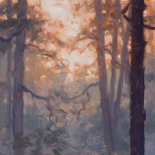 Painting of Greenwood Forest Light
