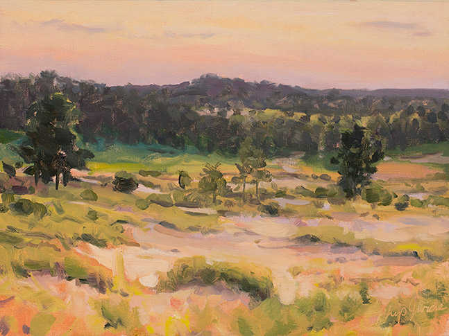 Painting of Late Colors, Sand Valley Wisconsin, by Philip Juras