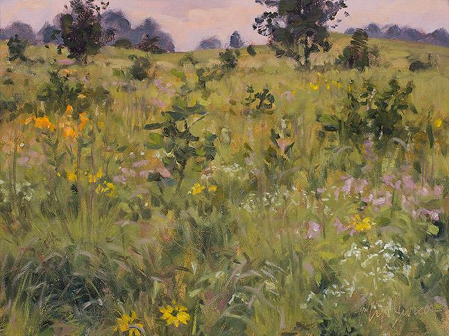 Painting of Prairie Flora, Sand Valley Wisconsin, by Philip Juras
