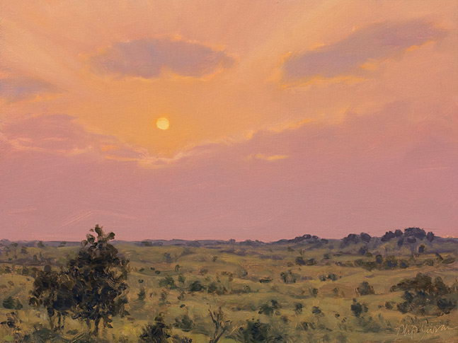Painting of Reimagined Sunset, Sand Valley Wisconsin, by Philip Juras
