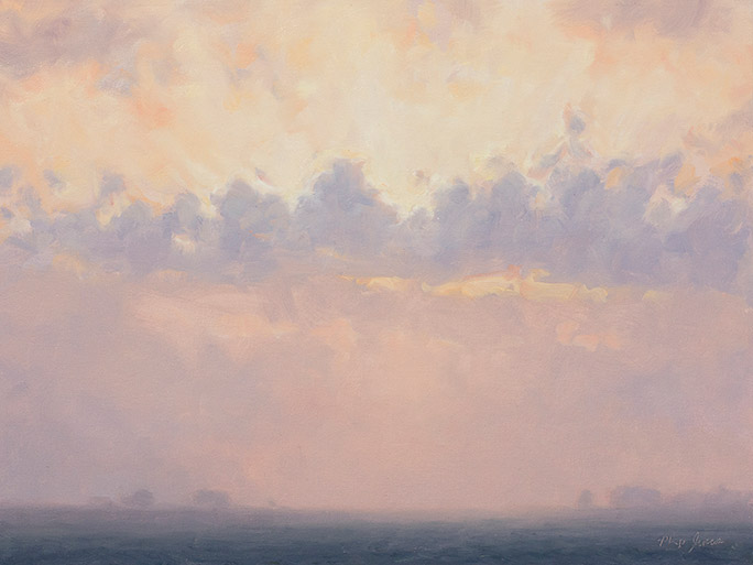 Painting of a Prairie Morning Impression, Vermillion County, IL by Philip Juras