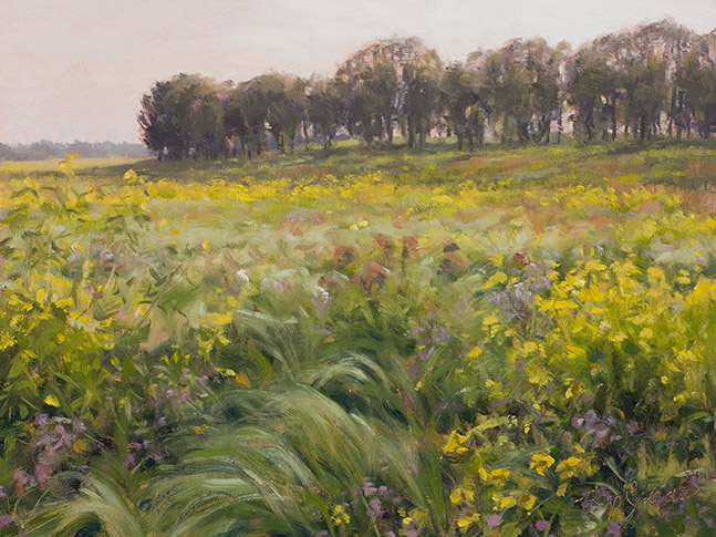 Painting of Orphan Grove in Deer Grove Forest Preserve, Illinois